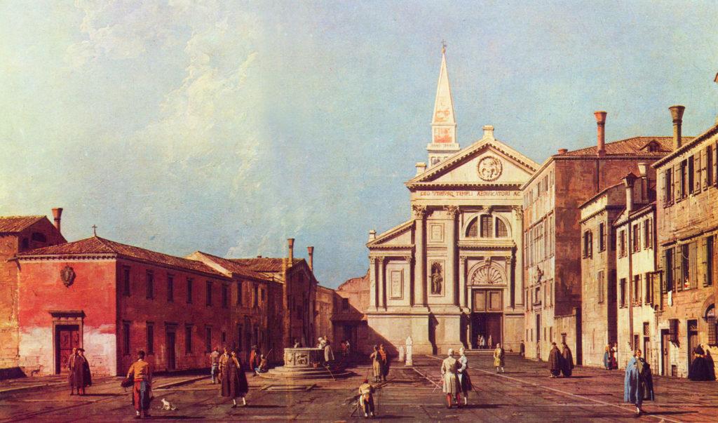 il campo e la Chiesa di San Francesco della Vigna